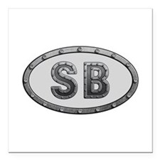 SB Metal Square Car Magnet