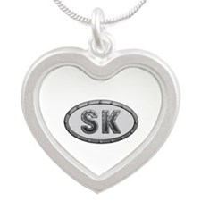 SK Metal Silver Heart Necklace