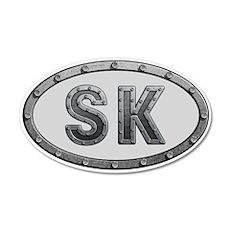 SK Metal Wall Decal