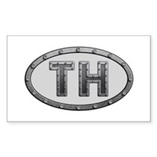 TH Metal Rectangle Sticker 10 Pack