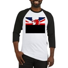 Grunge Welsh Union Jack Mens Baseball Jersey