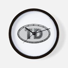 TD Metal Wall Clock