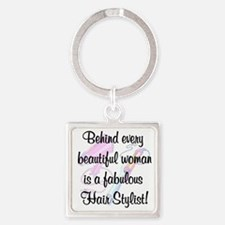 SUPER STAR STYLIST Square Keychain