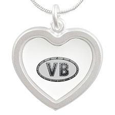 VB Metal Silver Heart Necklace