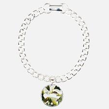 White Calla Lilies Bracelet