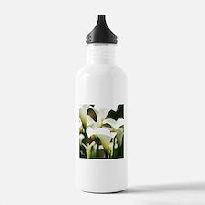 White Calla Lilies Water Bottle