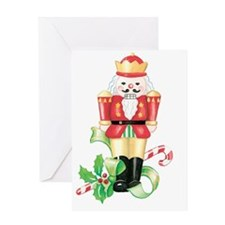 christmas nutcracker holly and candy Greeting Card