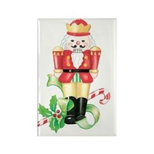 christmas nutcracker holly and ca Rectangle Magnet