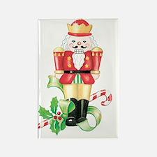 christmas nutcracker holly and ca Rectangle Magnet