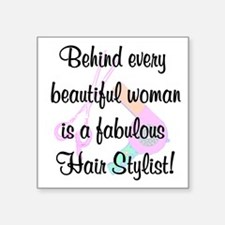 "SIZZLING STYLIST Square Sticker 3"" x 3"""