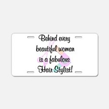 SIZZLING STYLIST Aluminum License Plate