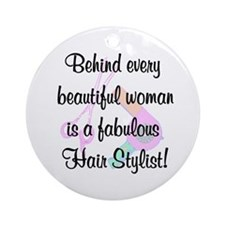 SIZZLING STYLIST Ornament (Round)