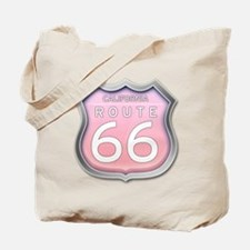 California Route 66 - Pink Tote Bag