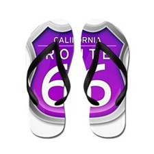 California Route 66 - Purple Flip Flops