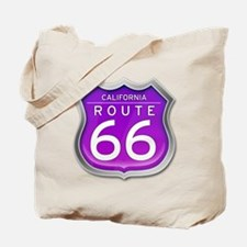 California Route 66 - Purple Tote Bag