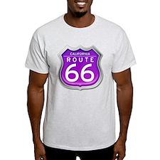 California Route 66 - Purple T-Shirt