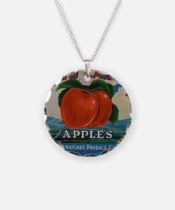 Vintage Fruit Vegetable Crate Label Necklace