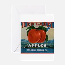Vintage Fruit Vegetable Crate Label Greeting Cards