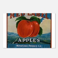 Vintage Fruit Vegetable Crate Label Postcards (Pac