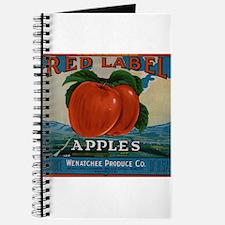 Vintage Fruit Vegetable Crate Label Journal