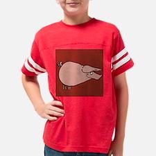 pig pillow dark red Youth Football Shirt