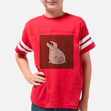sitting pig pillow dark red Youth Football Shirt