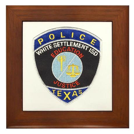 White Settlement ISD PD Framed Tile