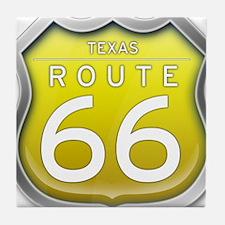Texas Route 66 - Yellow Tile Coaster