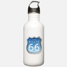 Texas Route 66 - Blue Water Bottle