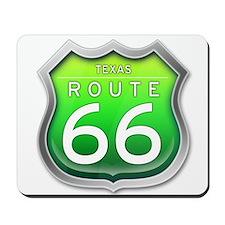 Texas Route 66 - Green Mousepad