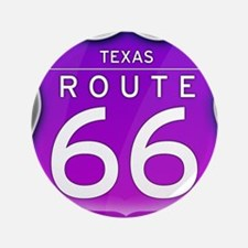 "Texas Route 66 - Purple 3.5"" Button"