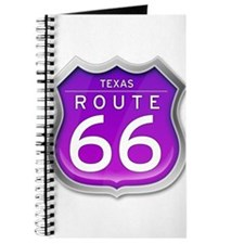 Texas Route 66 - Purple Journal