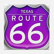 Texas Route 66 - Purple Tile Coaster