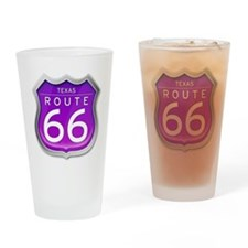 Texas Route 66 - Purple Drinking Glass