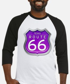 Texas Route 66 - Purple Baseball Jersey