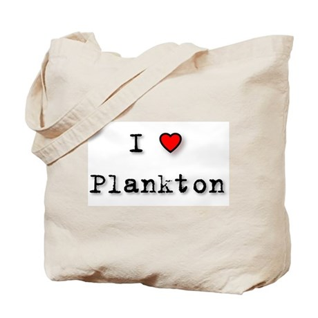 I Love Plankton Tote Bag