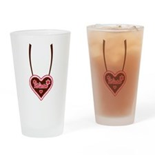 Lebkuchen heart Wiesn Oktoberfest Drinking Glass
