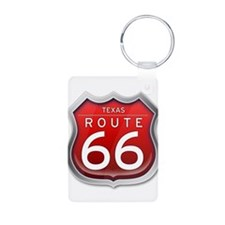 Texas Route 66 - Red Keychains