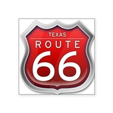 Texas Route 66 - Red Sticker