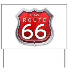 Texas Route 66 - Red Yard Sign