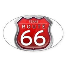 Texas Route 66 - Red Decal
