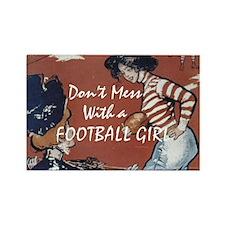 TOP Football Girl Rectangle Magnet