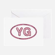 YG Pink Greeting Card