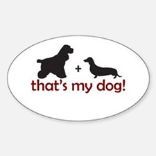 Doxie/Cocker Oval Decal