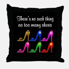 SIZZLING SHOES Throw Pillow