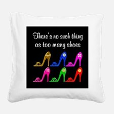 SIZZLING SHOES Square Canvas Pillow