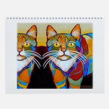 12 Colorful CATS Calendar