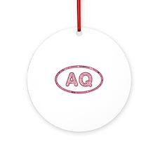 AQ Pink Round Ornament