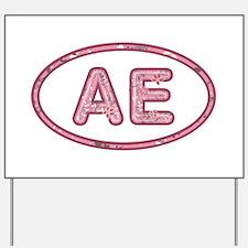 AE Pink Yard Sign