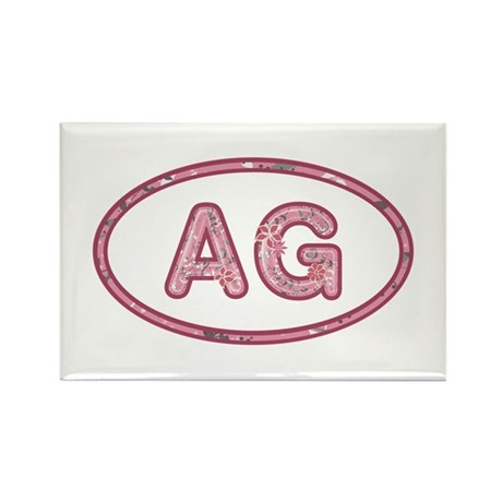 AG Pink Rectangle Magnet 100 Pack